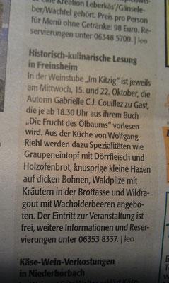 Stadtanzeiger Bad Dürkheim, 16.10.2014