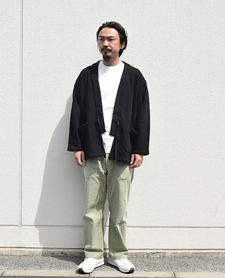 <Shoes> blueover <Outer> 吊り編み-褞袍