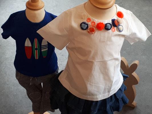 Tshirt Petit Bateau 6 Mo / Bluse Crew Cuts 4 J