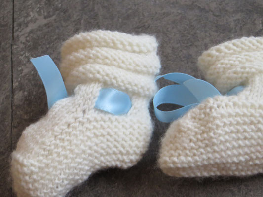 Hand Knitted Bootees - Joce - Newborn - 19,- Kids Design