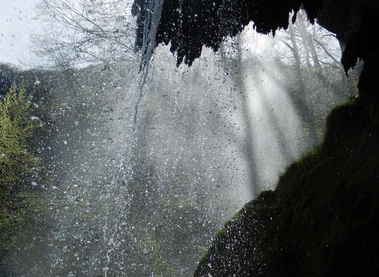 Uracher Wasserfall, Schwäbische Alb, April 2019