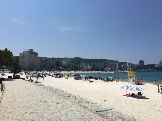 海が綺麗でした
