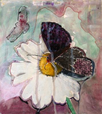 Das Leben und Leiden der Schmetterlinge (2), Mischtechnik, ca. A4. 2014 (copyright: oya-kunst, Nadide Ruthammer)