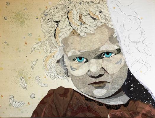 Ronja, Stoffe und Garn, 160x120. 2012,  (copyright: oya-kunst, Nadide Ruthammer)