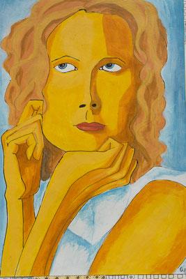 Serie: Frauengesichter, Acryl. 2011 (copyright: oya-kunst, Nadide Ruthammer)