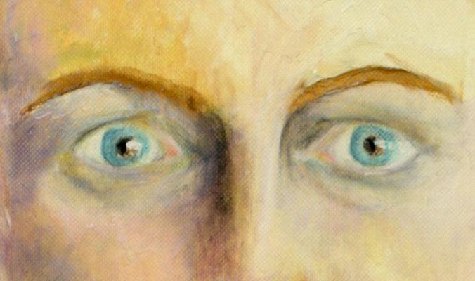 Augen eines Selbstportraits, Öl. 2013 (copyright: oya-kunst, Nadide Ruthammer)
