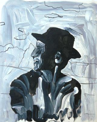 Serie: schwarz-weiße Erinnerungen, Acryl und Tinte. 2013 (copyright: oya-kunst, Nadide Ruthammer)