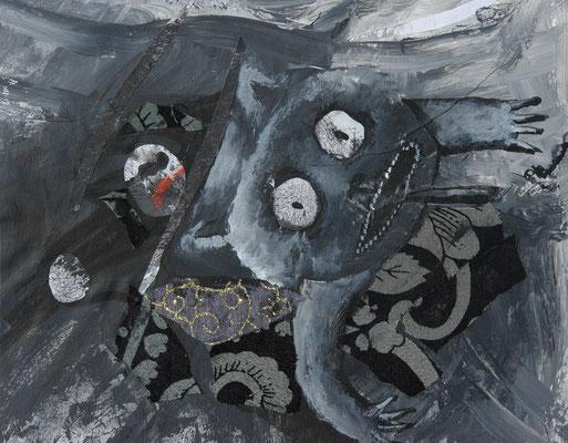 Serie: kleine Monster, Acryl. 2013 (copyright: oya-kunst, Nadide Ruthammer)
