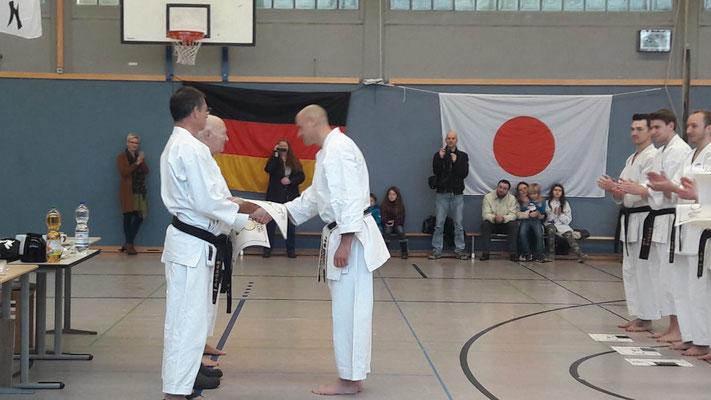 Karate Dan Prüfung von René Roese in Waltrop