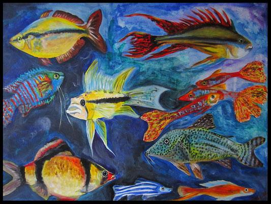 Fische (60x80cm) Nr. 202