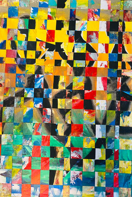 Bild Nr. 949, 3 Läufer, 70 x 100 cm, Acryl und Jute