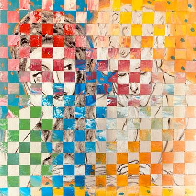 Bild Nr. 992, Alberto G., 90 x 90 cm, Acryl