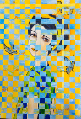 Bild Nr. 1015, zart wie ein Schmetterling, 80 x 115 cm, Acryl