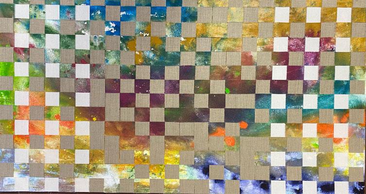 Bild Nr. 1003, Sand und Leinen, 150 x 80 cm, Acryl und Sand