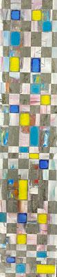 Bild Nr. 1057, vielschichtig, 30 x 135 cm, Öl