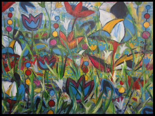 exotic flowers (80x60cm) Nr. 440