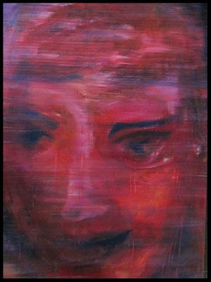 Frauenkopf rot (105x145cm) Nr. 396