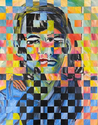 Bild Nr. 991, Elaine & Willem, 75 x 95 cm, Acryl