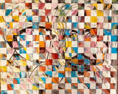 Bild Nr. 987, Charleston, 95 x 115 cm, Acryl und Baumwolle