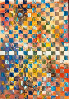 Bild Nr. 936, nothing else, 80 x 115 cm, Acryl und Jute