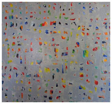 Unregelmäßige Farbausschnitte mit grau (110x110cm) Nr. 559
