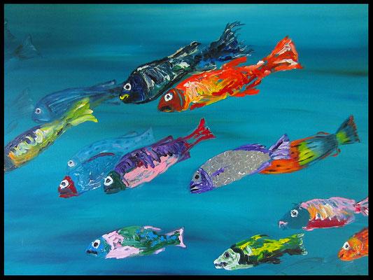 Fische 2. (80x100cm) Nr. 140