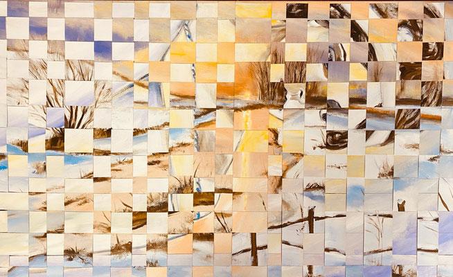 Bild Nr. 964, Winter, 130 x 80 cm, Acryl