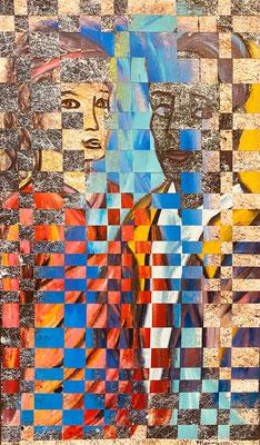 Bild Nr. 974, Alma und Oskar, 65 x 110 cm, Acryl