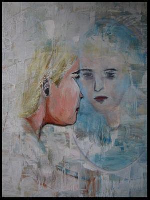 Frau im Spiegel (60x80cm) Nr. 688