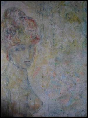 Rothaarige mit hochgestecktem Haar (60x80cm) Nr. 593