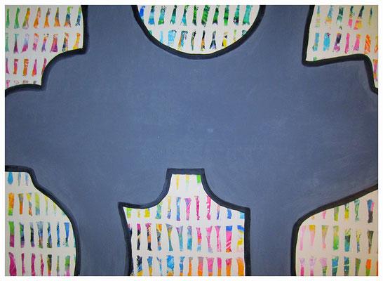 Elefanten-Strukturfenster (145x105cm) Nr. 563