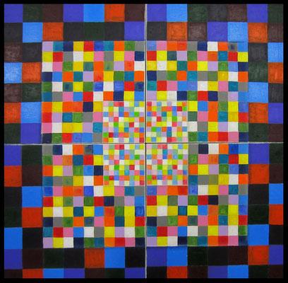 289 Quadrate 4-teilig (140x140cm) Nr. 154