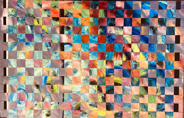 Bild Nr. 1000, Wirbelsturm, 155 x 100 cm, Öl und Acryl