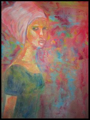 Frau mit Turban (100x70cm) Nr. 373
