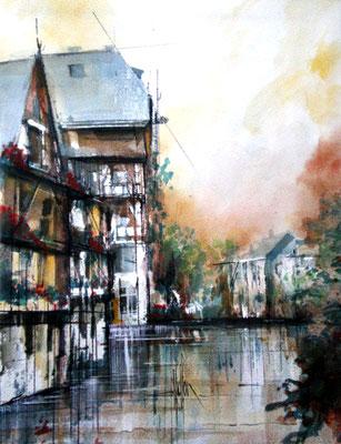 112 Strasbourg 01 - Aquarelle 40 x 50