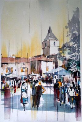 204 Concours Bagnols Affiche - Aquarelle 40 x 60