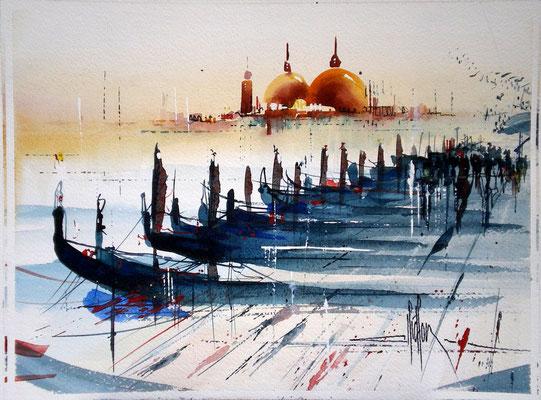 221 Exercice sur Venise 03. Aquarelle 30 x 45.5. 2011