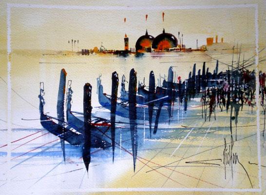 240 Exercice sur Venise 06. Aquarelle 30 x 40. 2011