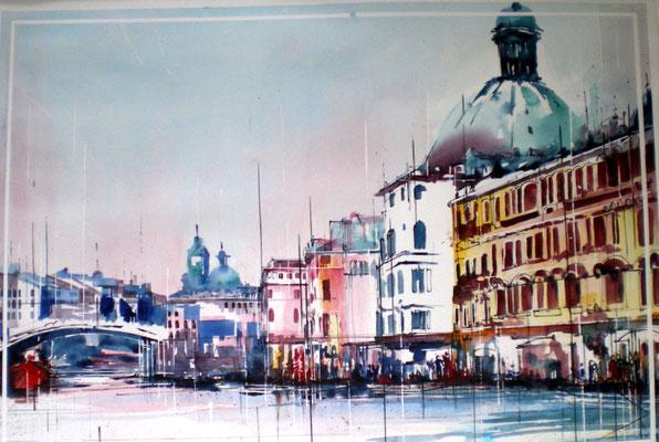 238 Venise: Le grand canal. Aquarelle 50 x 70. 2011