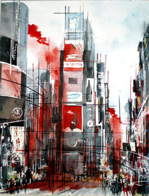 113 NYC 01 - Aquarelle 40 x 50
