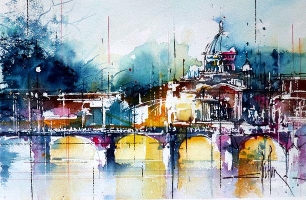 258 Les capitales: Rome. Aquarelle 30.5 x 45.5. 2012