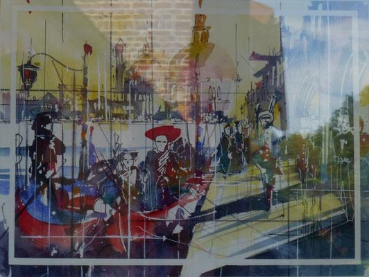 295 Le carnaval de Vensise. Aquarelle 40 x 50. 2013