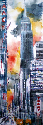 143 NYC 23 - Aquarelle 33 x 95
