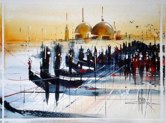 223 Exercice sur Venise 05. Aquarelle 30 x 45.5. 2011
