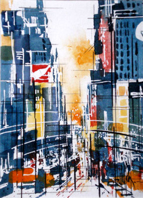 141 NYC 21 - Aquarelle 18 x 24