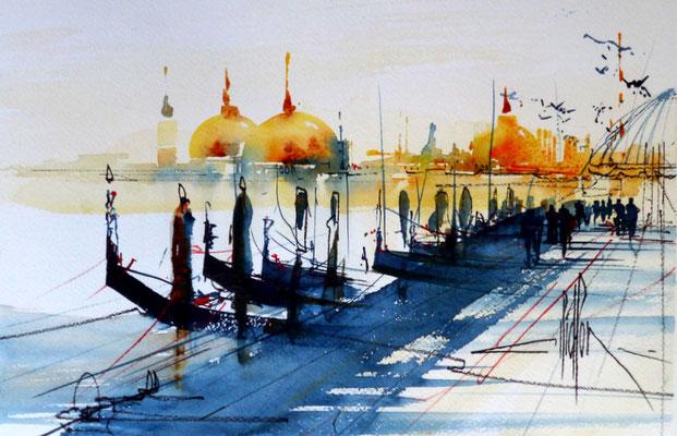 268 Exercice sur Venise 06. Aquarelle 30.5 x 45.5. 2012