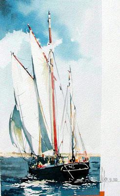 16 Souvenir de vendée - 2000 - Aquarelle 30 x 40
