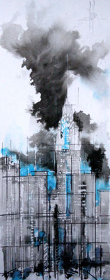 133 NYC 15 - Aquarelle 23 x 50