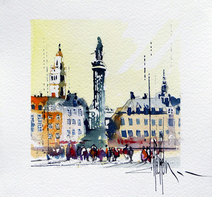 433 Lille Grd Place VII Aquarelle 20 x 20