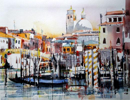 121 Venise 03 - Aquarelle 40 x 50